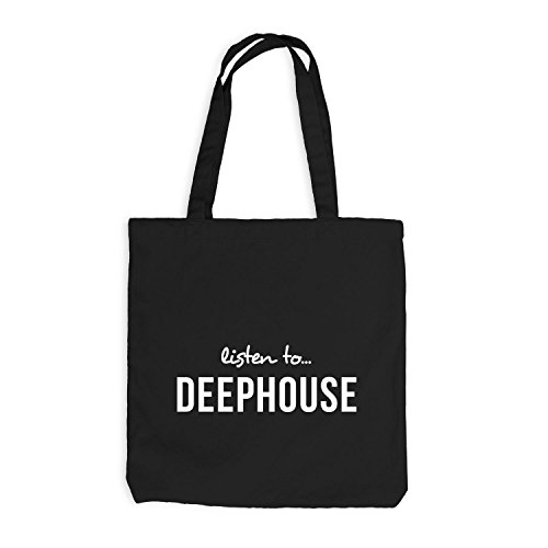 Jutebeutel - Listen To Deephouse - Music Fan Musik Schwarz