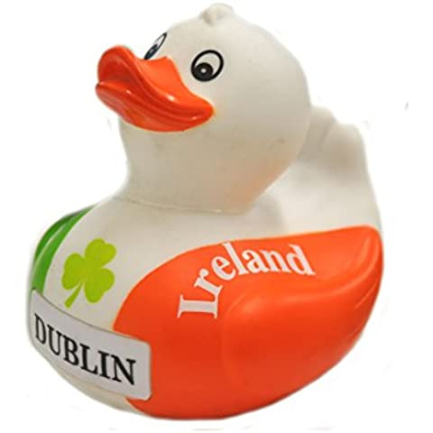 Souvenir Tri Colour Design Rubber Duck With Ireland Text - Colori Bandiera Irlandese