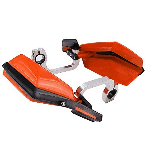 JenNiFer 7/8Inch Dirt Bike Handlebar Handlebar Hand-Guards Für KTM Honda Crf 150 100 Xr 230 400 110 - Dunkelorange (Bike Guards Dirt Hand)