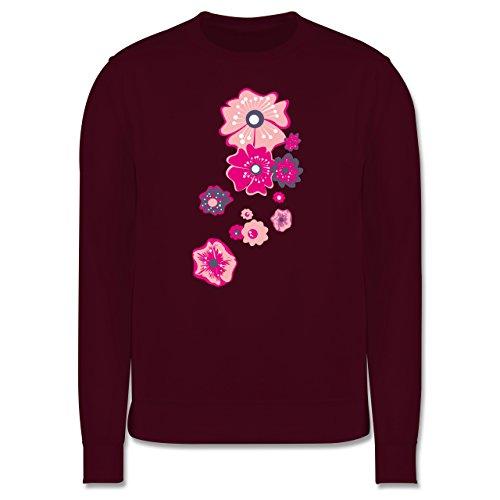Blumen & Pflanzen - Blumen - Herren Premium Pullover Burgundrot