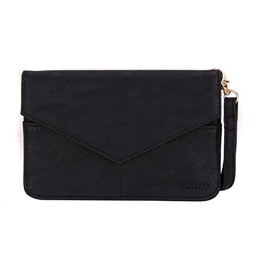 Conze da donna portafoglio tutto borsa con spallacci per Smart Phone per VeryKool S353/S351/S352/S354/S3501Lynx Grigio grigio nero
