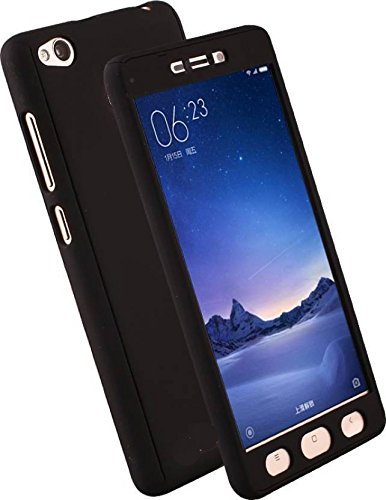 CEDO 360 Degree Full Body Protection Front & Back Case Cover (iPaky Style) with Tempered Glass for Vivo Y51 / Y51L (Black)