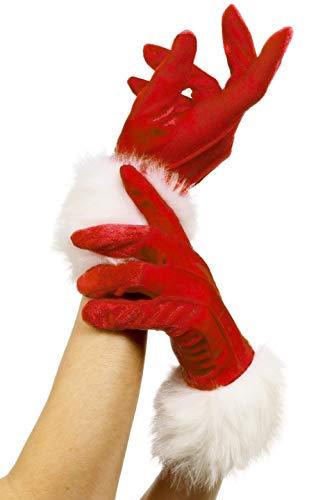 Smiffys Damen Kurze Weihnachts Handschuhe, One Size, Rot, 29253
