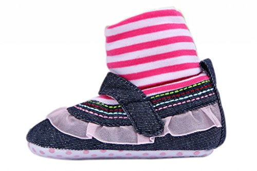 Smile YKK Lace Deko Mädchen Schuhsocke Krabbelschuhe Lauflernschuhe Pink Lace 13 Pink Lace