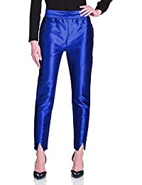 oneOeightdesigns Women's Silk Tulip Trouser with cotton Lining (Pearl and Stone Beads) Royal Blue-38