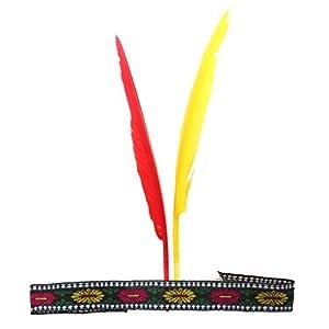 Hellery Frauen Schmuck Nacht Partei Haarzusatz Indian Feder Geformte Haarband