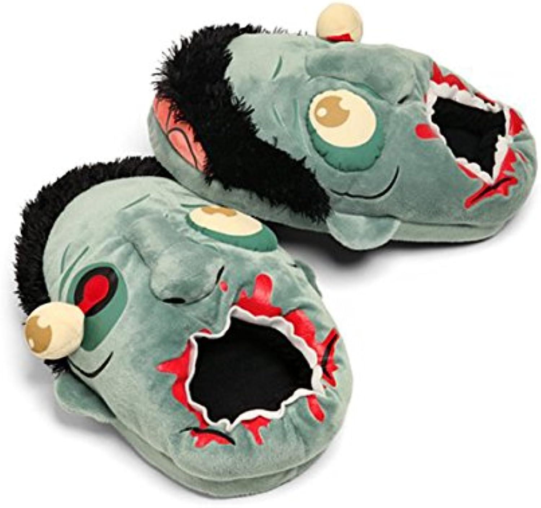 VORCOOL-Peluche de zombi de zapatos talla Libre-Pantuflas azul