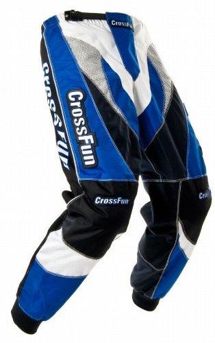 Kinder Motocross Hose blau weis schwarz Gr. 116/122 (Hose Motocross Blau)