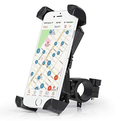 Amoner Fahrrad Hanyhalterung Motorrad Fahrrad Handyhalter Universal für 20-35mm Fahrrad-Lenker Handyhalter Wiege Klammer Mit 360 Drehen für 50-195 mm Smartphone GPS Andere Geräte