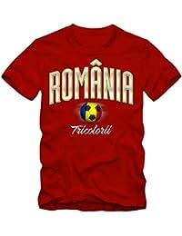 Herren Fußball T-Shirt Rumänien Romania Football EM Trikot Frankreich