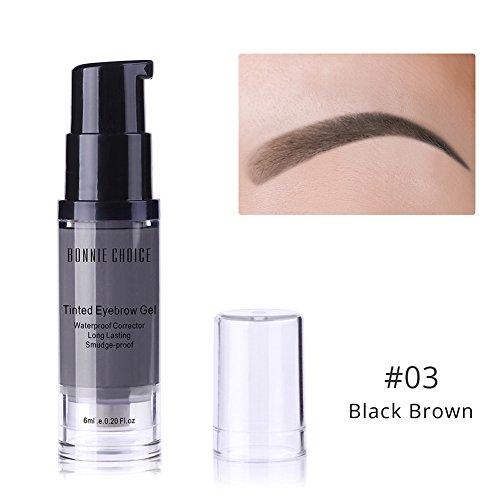 BONNIE CHOICE 6 ml étanche sourcils Gel longue durée Make Up Tint Henné Abat-jour Maquillage Crème Cosmétique trois couleurs pour Choice-light Marron …