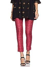 Amazon Brand - Tavasya Women's Cigarette Pants Slim Fit Bottom