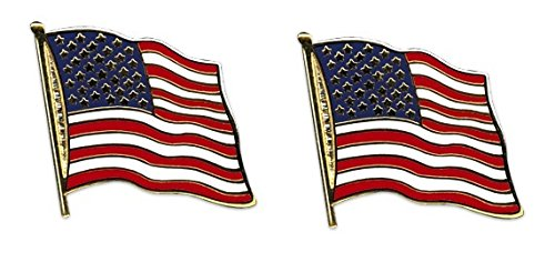 Yantec Flaggenpin 2er Pack USA Pin Anstecknadel Fahnenpin