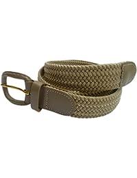 Streeze 30 mm ceinture pour hommes et femmes. 6 tailles. Extensible et  tressée avec une boucle en cuir de tailles Small… ad21bcbb638