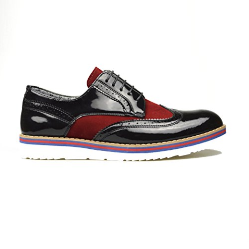 ClassyDude , chaussures compensées mixte adulte femme homme garçon fille Black/Burgundy