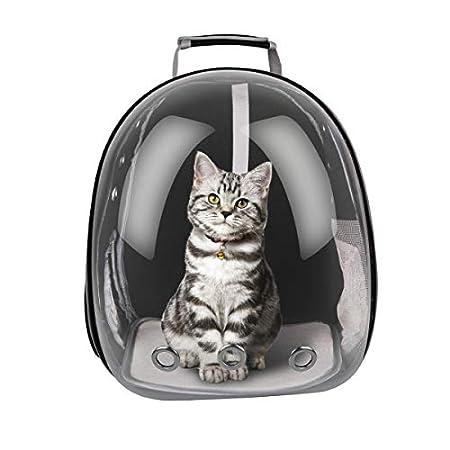 FancyWhoop Haustier Rucksack Transport Hunderucksack für Hunde und Katzen Rucksäcke bis About 12KG-Black