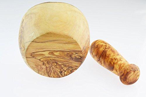 D.O.M. Olive Wood Madera de olivo mortero y pilón, estilo rústico, grano/Natural - 3