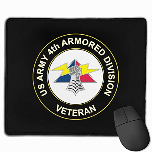 US Army 4th Armored Division Unit Crest Veteran Laptop Mouse Pads Mousepad Home Mats 9.8