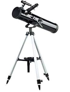 Telescopio a riflessione 76/700mm con treppiede regolabile