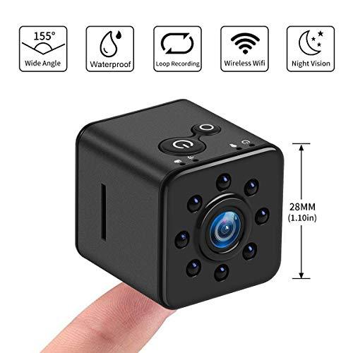 Mini Kamera SQ13 1080P HD Videokamera mit Infrarot Nachtsicht CMOS Mikro Action Kamera 155 Grad Tragbare Kleine Nanny Cam Unterstützung Mobile WIFI Hotspot für FPV Drone (SQ13 Mini Kamera 1080P)