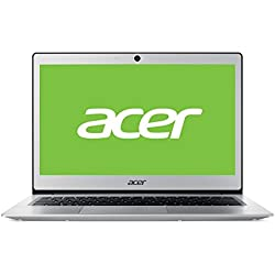 "Acer Swift SF113-31-C1ZH - Ordenador Portátil de 13.3"" FullHD (Intel Celeron N3350, 4 GB RAM, 128 GB SDD, Intel HD Graphics, Windows 10); Plateado - Teclado QWERTY Español"