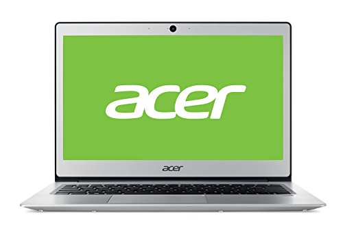 Acer Swift 1 | SF113-31 - Ordenador portátil ultraslim de 13.3' HD (Intel Celeron N3350, 4 GB RAM, 64 GB eMMC, UMA, Windows 10 Home con S Mode & Office 365 Personal) Plata - Teclado QWERTY Español