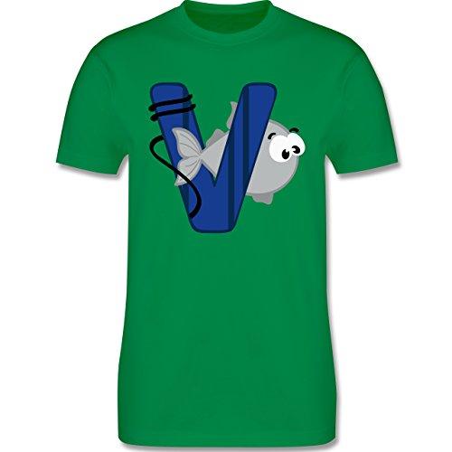 Anfangsbuchstaben - V Schifffahrt - Herren Premium T-Shirt Grün