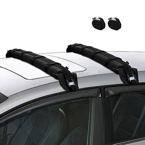 ZJY Universal Inflation Dachträger, Stangen, Gepäckträger 180 Pfund Kapazität zerkratzt Nicht die Oberfläche - Luftpumpe Nicht enthalten -