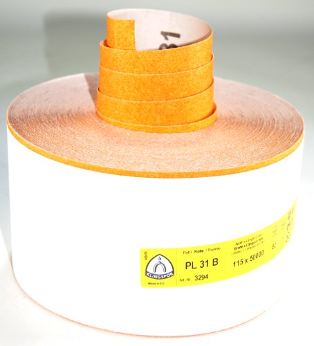 Klingspor PL31B-3294 Schleifpapier auf Rolle, 115 mm, K 80, 50 m, E 447 142
