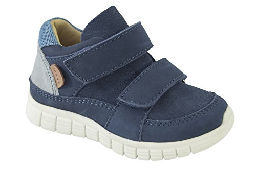 MOVE Baby Lauflernschuh Sneaker, Chaussures Marche Mixte Bébé Bleu Marine