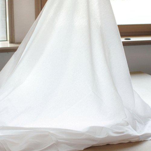 Baumwoll-Stoff leicht rein Weiß - 100 cm breit - als Meterware für Kleidung u. Deko