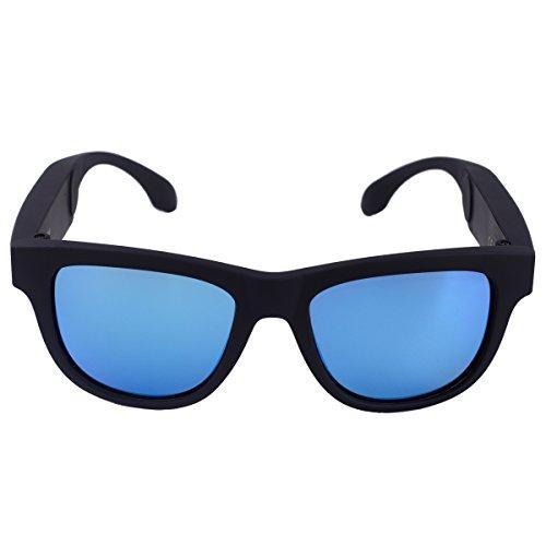 Conduzione ossea auricolare bluetooth occhiali da sole cuffie con microfono acustico impermeabile wireless sport musica stereo mp3 player per iphone huawei samsung lg android windows smart phone
