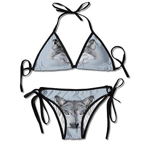 s,Gaze Sublime Animal Illustration Sexy Bikini 2 Pieces ()