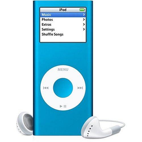 """Apple iPod nano - 2ème génération - lecteur numérique - flash 4 Go - Réglage automatique d'amplitude, MP3 -écran: 1.5"""" - bleu"""