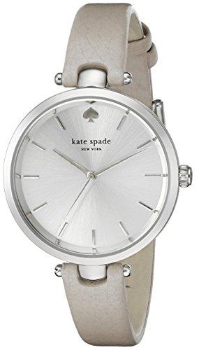 KATE SPADE WOMEN'S 34MM GREY CALFSKIN BAND METAL CASE QUARTZ WATCH 1YRU0813