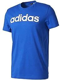 Adidas Linear Camiseta, Hombre, Azul (Reauni), M