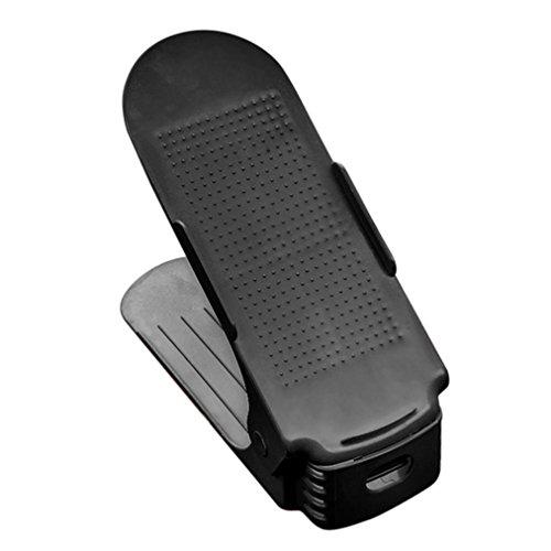 Schuhablagen Platzsparer SOMESUN Einstellbare Schuhe Rack Organizer Kunststoff Durable Schränke (schwarz)