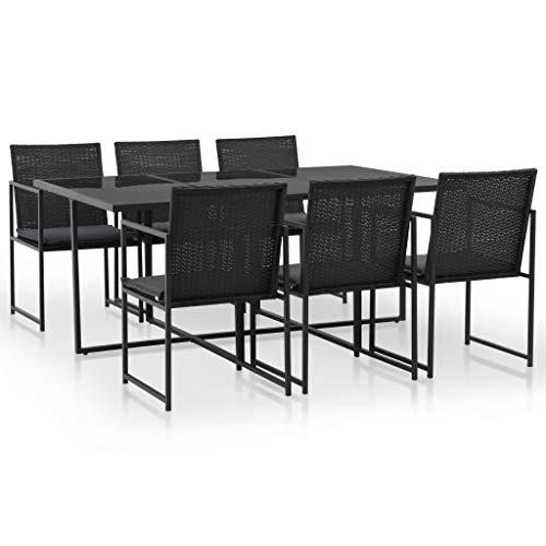 Fesjoy Conjunto de Muebles de jardín Juego de Mesa de Comedor de...