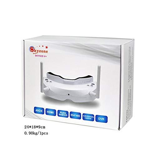 JohnJohnsen SKYZONE SKY02S V + 3D 5.8G 40CH FPV Brille Videobrille mit Sender Kamera Kopfverfolgung HDMI DVR FPV Brille (Schwarz)
