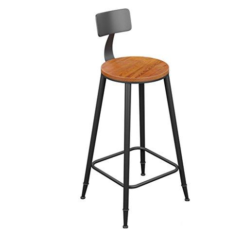 Crazy stool ZWD Iron Art Barhocker, Vintage Barhocker Massivholz Stuhl Sessel Restaurant Barhocker Hoher Hocker Rezeption Dekoration Stuhl Höhe 71-111CM Hocker und Stühle (größe : 40*40*94CM) (Begrüssen Service)