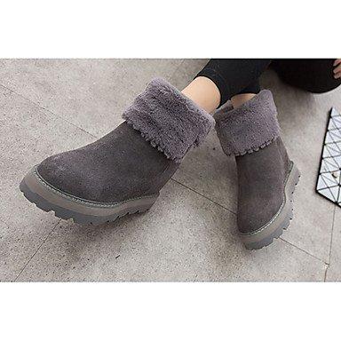 Wuyulunbi@ Scarpe Donna Autunno E Inverno Stivali Di Moda Con Piatto Tondo Nero Toe Casual Nero Grigio US6 / EU36 / UK4 / CN36