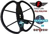 DETECH Ultimate DD Suchspule für Fisher F11, F22, F44 Metalldetektoren mit Spulenabdeckung, 33 cm