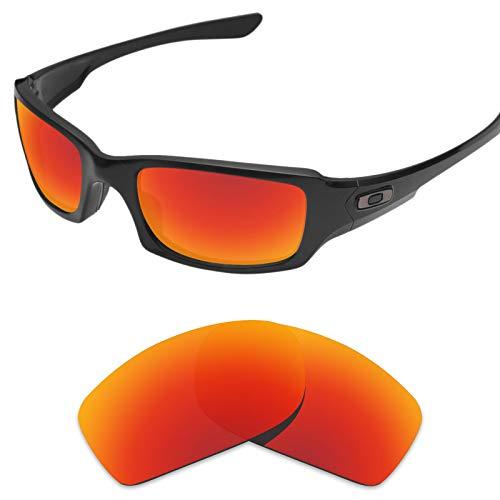 sunglasses restorer Ersatzgläser für Oakley Fives Squared 3.0 (Polarisierte Fire Iridium Linsen)