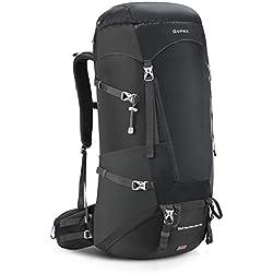 Gonex Sac à Dos de Trekking 65L + 10 L Sac de randonnée pour Escalade Alpinisme Camping Trekking Voyage