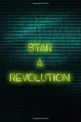 Start A Revolution: Blank Lined Notebook ( Vaporwave ) Green Revolution Womens Sweatshirt