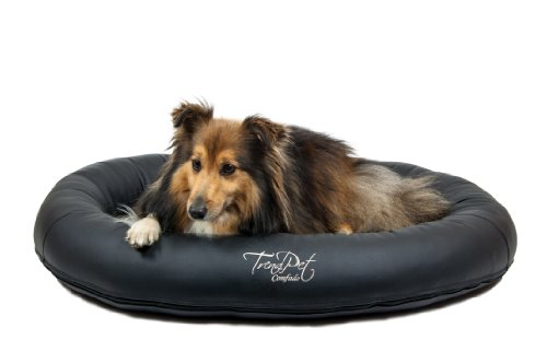 Artikelbild: TrendPet 'Comfado' 90x70cm Black, Luxus Hundebett aus Soft-Kunstleder 'Das Hundebett'