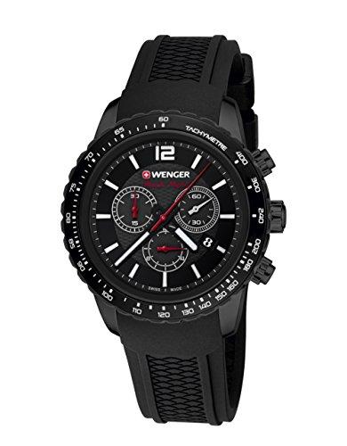 Wenger Roadster Black Night Chrono 01.0853.109 - Reloj de pulsera unisex, Negro/Negro
