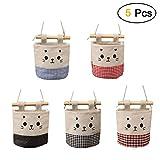 5 Tasche Hanging Storage Bag/Hängende Kombination/Wand Hängen Hängeorganizer/Hängende Tasche/Debris Beutel/Bad Wand,Multifunktionale Wohnzimmer Schlafzimmer Hängenden Tasche-Beutel-Katzen-Gesicht