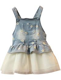 Vestito Salopette di Jeans Bambino Gonna Tutu Denim Vestito Principessa Gonna  di Jeans Tutina Vestiti del 35f8c21a5e9