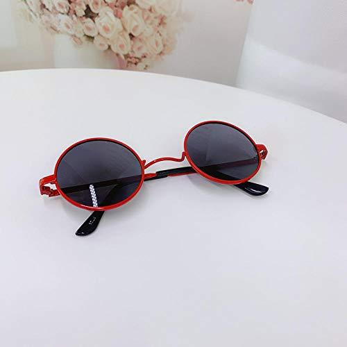 CYCY Kindersonnenbrille Kindersonnenbrille Jungen und Mädchen Brille Runder Rahmen Baby Sonnenblende Champagner Sonnenblume Orange Tasche, Apricot Classic Rot + Tasche Polarisiert